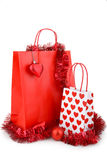 Christmas shopping bag Stock Photos