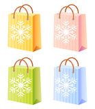 Christmas shopping bag. Vector  illustration; isolated; new year Stock Photos