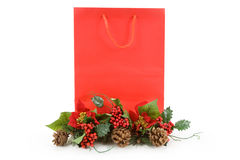 Christmas Shopping Bag Royalty Free Stock Photography