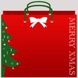 Christmas shopping bag vector. With isolated background vector illustration