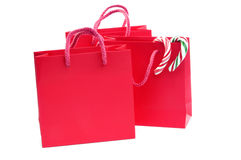 Christmas shopping bags Stock Images