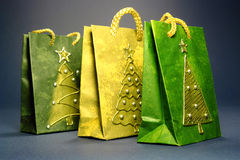 Christmas shopping bags Royalty Free Stock Photo