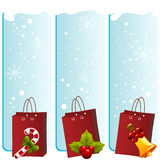 Christmas shopping bags Stock Image