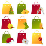 Christmas Shopping Bags Royalty Free Stock Image