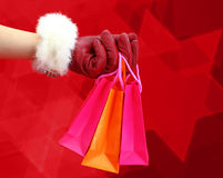 Christmas shopping bags Royalty Free Stock Photos