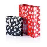 Christmas shopping bags, gift box Royalty Free Stock Photography