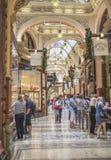 Christmas Shopping, The Block Arcade, Melbourne, Australia. Royalty Free Stock Images