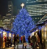 Christmas Shopping Bryant Park Royalty Free Stock Photography