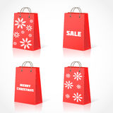 Christmas shopping bsg Stock Images