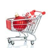 Christmas shopping cart Stock Photo