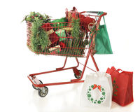 Christmas Shopping Cashe Royalty Free Stock Images