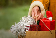 Christmas shopping - Christmas time Royalty Free Stock Photography