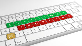 Christmas Shopping concept Royalty Free Stock Images