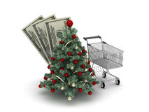 Christmas shopping concept illustration Stock Images