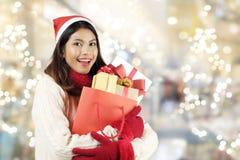 Christmas shopping concept. Stock Photos