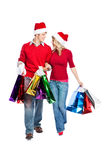 Christmas shopping couple Royalty Free Stock Photo