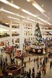 Christmas Shopping Crowd Stock Photo