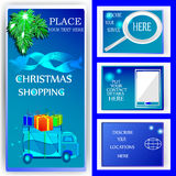 Christmas shopping deliver Stock Images