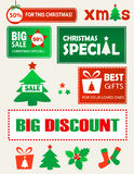 Christmas shopping design elements Stock Photos