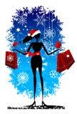 Christmas shopping, fashion Stock Photos