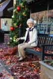 Christmas Shopping Grandmother Royalty Free Stock Image