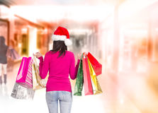 Christmas shopping. Royalty Free Stock Photo