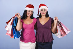 Christmas shopping happy women Royalty Free Stock Photo
