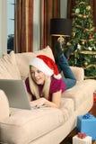 Christmas shopping at home Royalty Free Stock Photos