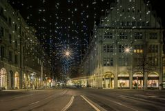 Christmas Shopping In The Colorfully Decorated Zurich Bahnhofstrasse - 3 Stock Photography
