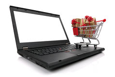 Christmas shopping on the internet Royalty Free Stock Image