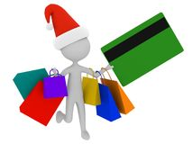 Christmas shopping isolated on white background. Holiday sales Royalty Free Stock Images