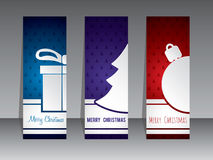 Christmas shopping label designs with symbols Royalty Free Stock Image