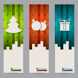 Christmas shopping labels with striped colorful elements Stock Photo
