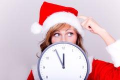 Christmas shopping late Stock Image
