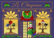 Christmas Shopping at Le Chapeau royalty free stock image