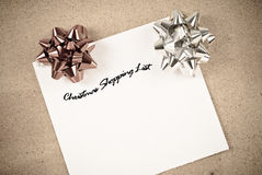Christmas Shopping List Royalty Free Stock Photo