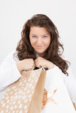 Christmas shopping luck Royalty Free Stock Photography
