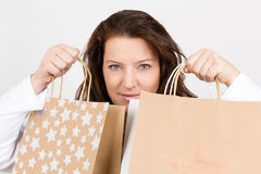 Christmas shopping luck Stock Photo