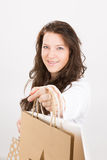 Christmas shopping luck Stock Photography