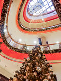 Christmas shopping mall Royalty Free Stock Image