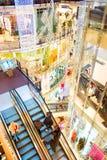 Christmas shopping mall, Prague Stock Images