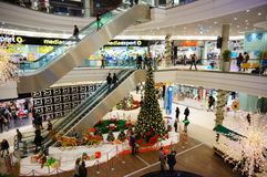 Christmas in shopping mall Stock Photography