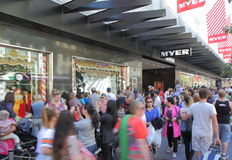 Christmas shopping in Melbourne Stock Photography