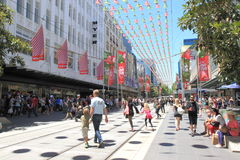 Christmas shopping in Melbourne Royalty Free Stock Image