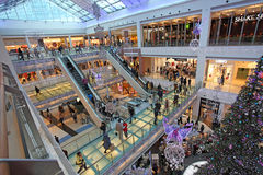 Christmas shopping in Moscow Royalty Free Stock Images