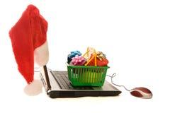 Christmas shopping online Stock Photo