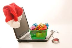 Christmas shopping online Royalty Free Stock Image
