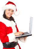 Christmas shopping online Royalty Free Stock Images