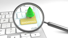 Christmas Shopping online concept Stock Photos