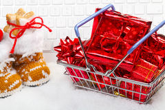 Christmas Shopping Online Stock Images
